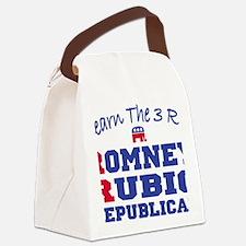 Romney Rubio Republican 2012 Canvas Lunch Bag