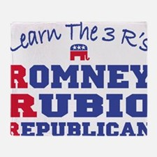 Romney Rubio Republican 2012 Throw Blanket