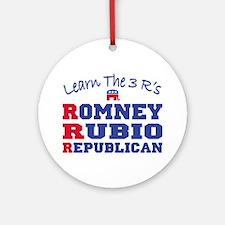Romney Rubio Republican 2012 Round Ornament