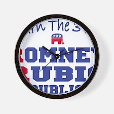 Romney Rubio Republican 2012 Wall Clock
