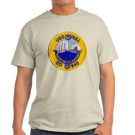 uss hull patch transarent Light T-Shirt