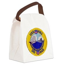 uss hull patch transarent Canvas Lunch Bag