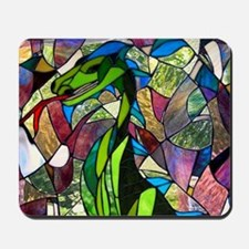 Mystic Dragon in Stained Glass Mousepad