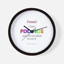 """""""Freeze!"""" PDD-NOS Wall Clock"""