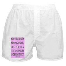 Vintage Chick Immature Boxer Shorts