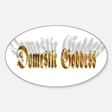 Domestic Goddess Oval Decal