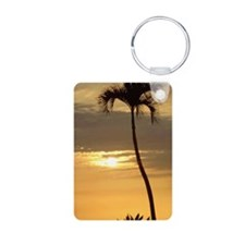 Lone Palm Sunset Keychains