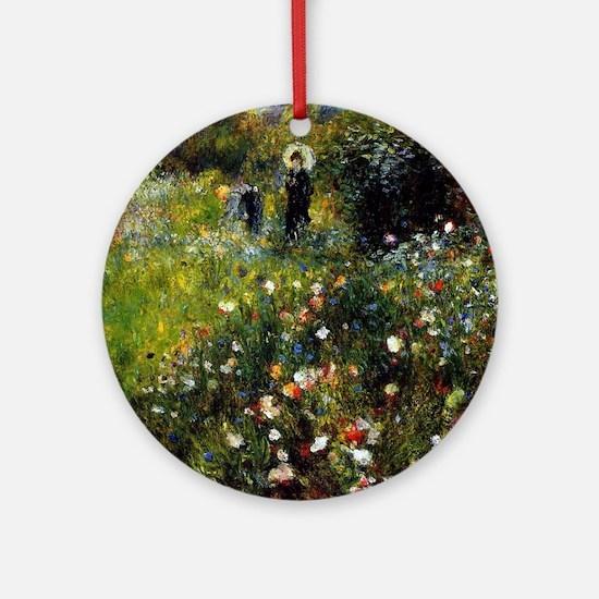 Renoir Summer Landscape Round Ornament