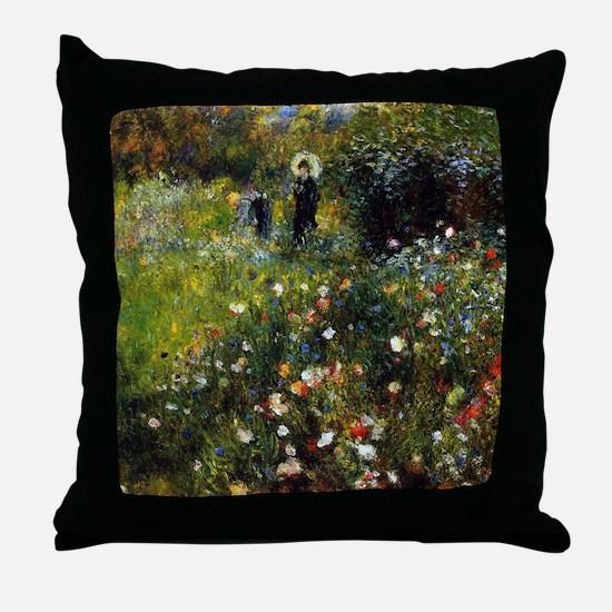 Renoir Summer Landscape Throw Pillow
