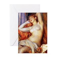 Sleeping Baigneuse Greeting Card