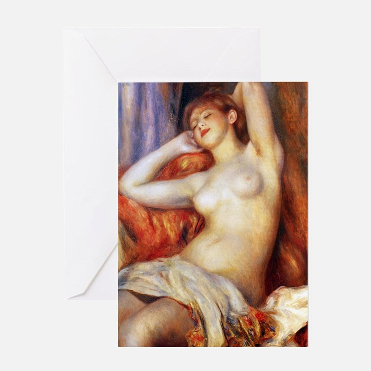 Sleeping Baigneuse Greeting Card