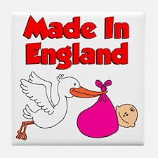 Made In England (Girl) Tile Coaster