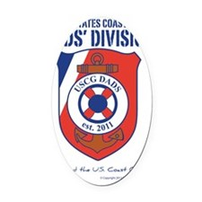 USCG Dads' Division Oval Car Magnet