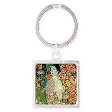 Gustav Klimt The Dancer Square Keychain