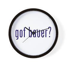 got bauer? Wall Clock