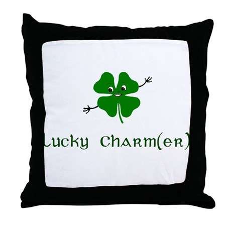Lucky Charm(er) Throw Pillow
