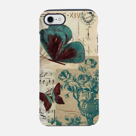 FRENCH MODERN_VINTAGE_BUTTERFLY_MUSIC iPhone 7 Tou
