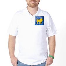 Lion Round Ornament T-Shirt