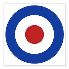 "RAF Roundel Square Car Magnet 3"" x 3"""
