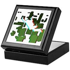 3D Freefall Skyline 1 Keepsake Box