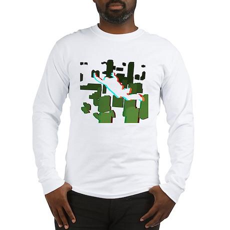 3D Freefall Skyline 1 Long Sleeve T-Shirt