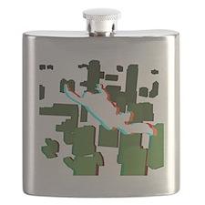 3D Freefall Skyline 1 Flask
