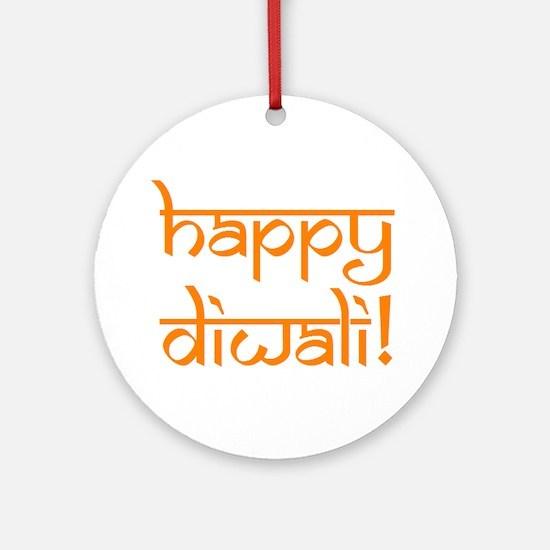 happy diwali Ornament (Round)