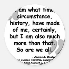 Baldwin More Quote Round Car Magnet