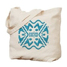 Swim Bevel Blue Tote Bag