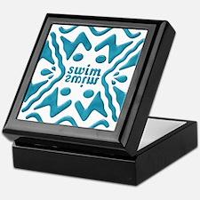 Swim Bevel Blue Keepsake Box