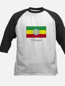 Ethiopia - Ethiopian Flag Kids Baseball Jersey