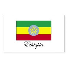 Ethiopia - Ethiopian Flag Rectangle Decal