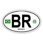 Brazil Intl Oval Oval Sticker