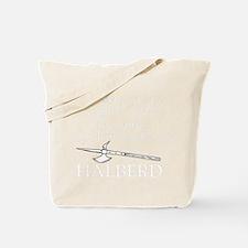 Halberd White Tote Bag