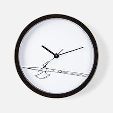 Halberd White Wall Clock
