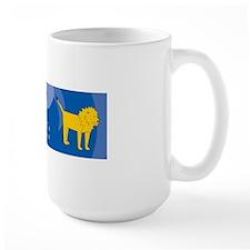 Lion 36x11 Wall Decal Mug