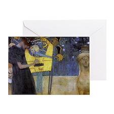 Gustav Klimt Music Greeting Card