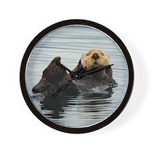 RCoaster_Otter_5 Wall Clock