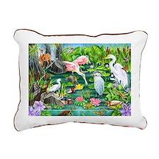 Wetlands Animals Rectangular Canvas Pillow