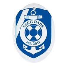 USCG Dads Division 2 Oval Ornament