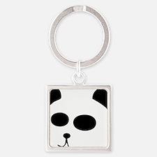 The Panda Square Keychain