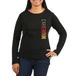 Cameroun Women's Long Sleeve Dark T-Shirt