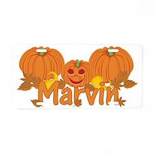 Halloween Pumpkin Marvin Aluminum License Plate