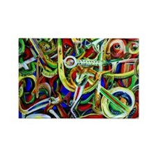 Afrobeat Rectangle Magnet