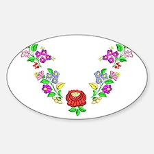 Hungarian folk motif Sticker (Oval)