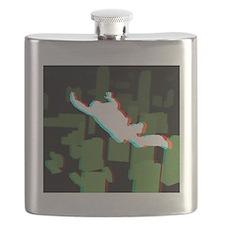 3D Freefall Skyline 1 Icon (Black BG) Flask