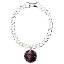 African woman - Copy Charm Bracelet, One Charm