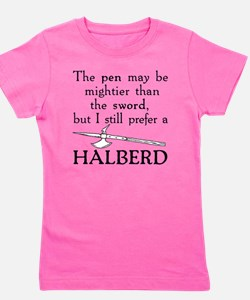 Halberd Black Girl's Tee