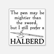 "Halberd Black Square Sticker 3"" x 3"""