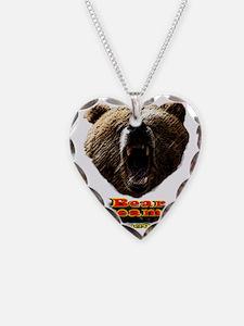 Mens Bear Dreamer Logo Brand  Necklace